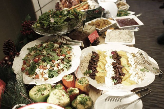 The spread of healthy veggies, wild rice and salad was too delicious, everyone kept getting more.