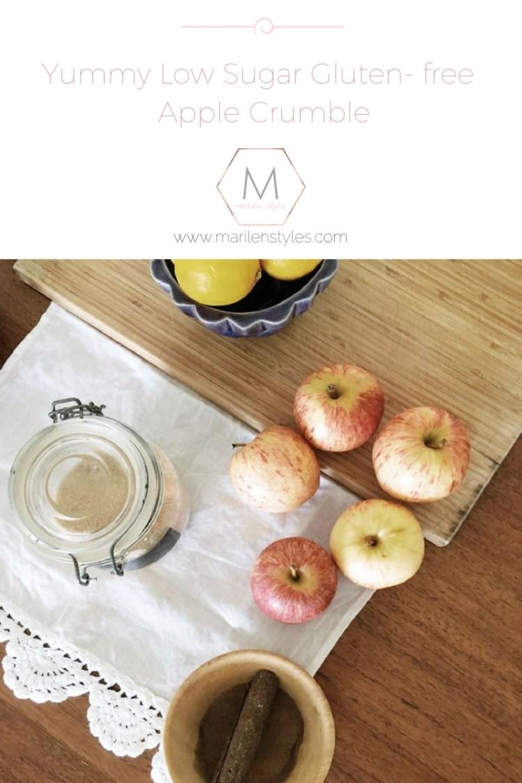 autumn inpired gluten free apple crumble