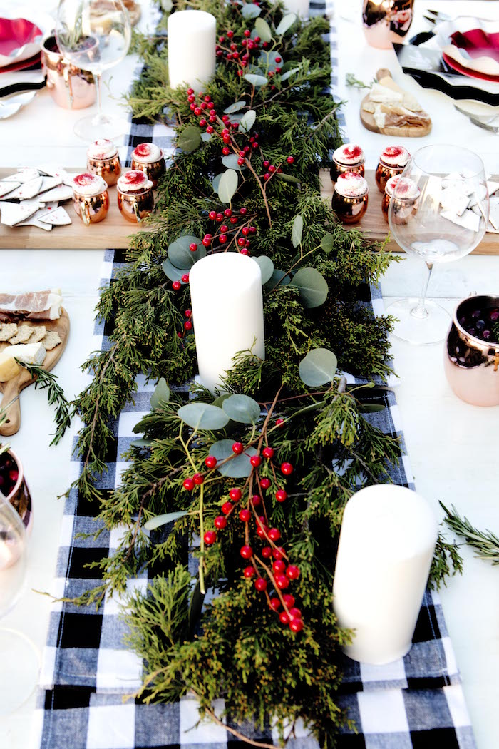 Christmas dining tables