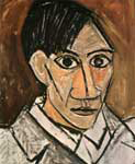 Picasso head paintings morphing animation