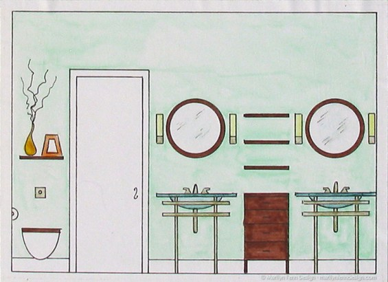 Dream House Design Master Bath Sink And Toilet Wall