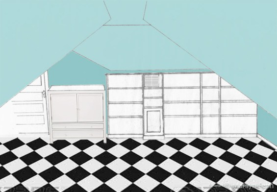 Attic Shelving Design