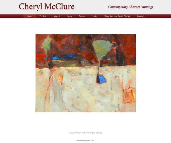 Cheryl McClure - Contemporary Abstract Paintings
