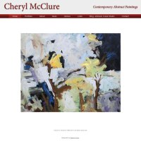 image of painter Cheryl McClure's website