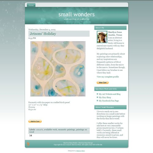 Small Wonders Blogger blog