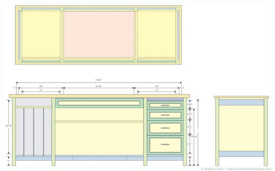 Sewing Cabinet Design In Color