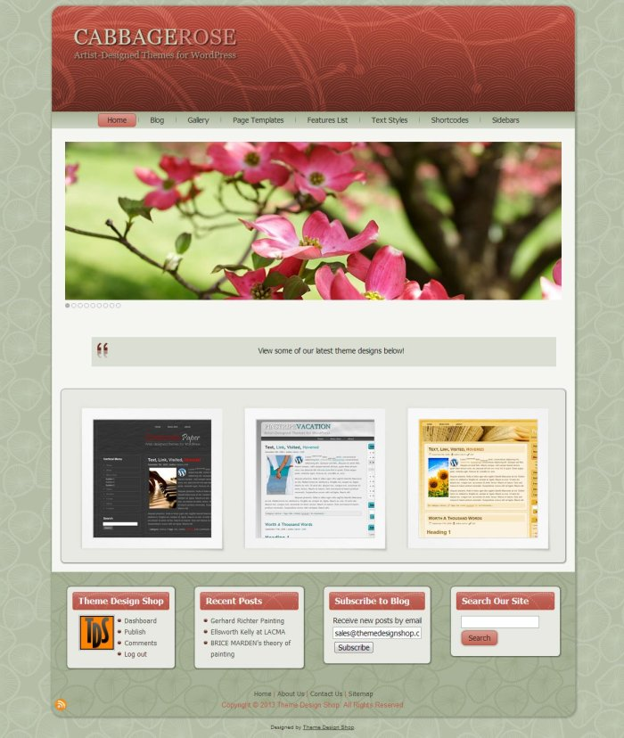 Cabbage Rose WordPress Theme