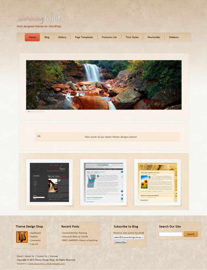 Morning Light WordPress Theme
