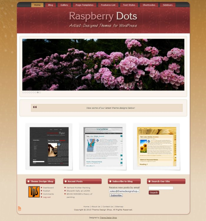 Raspberry Dots WordPress Theme
