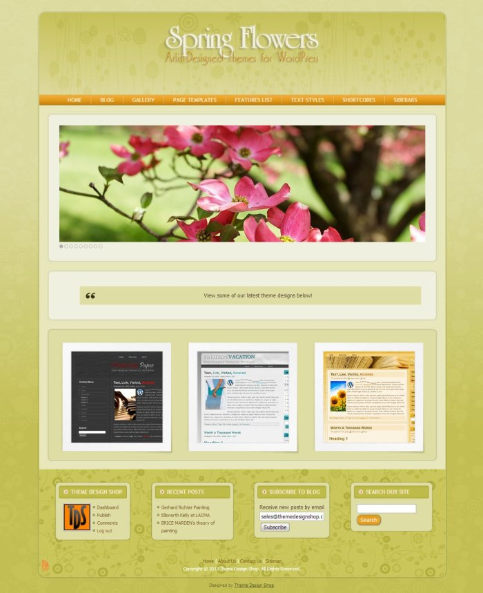Spring Flowers WordPress Theme