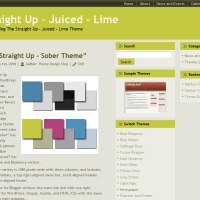 Straight Up Lime Wordpress Theme