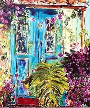 At the Blue Door 20x24