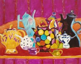 Dancing Teapots 24x30