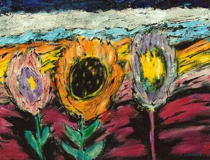 Flowers in the Field 11x14
