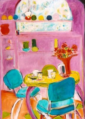 Interior with Turquoise Chairs 30x40