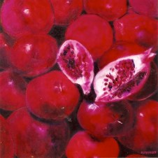 Juicy Pomegranates 24x24