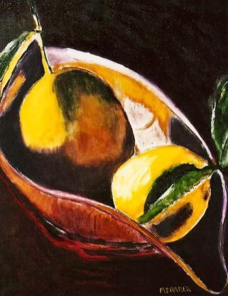 Lemons in Gondola Bowl 16x20