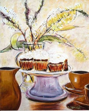 Still Life With Cupcakes 20x24