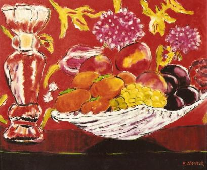 Still Life with Fruit Bowl 20x24