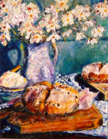 Still Life with Irish Soda Bread 24x26