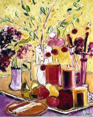 Still Life with Pears and Candles-24x30
