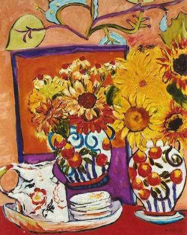 Still Life with Sunflowers 24x30