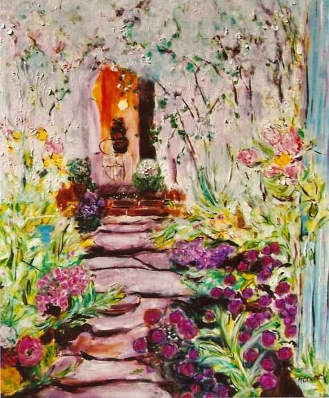 Stonewalk to Cottage, 20x24
