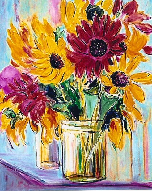 Sunflowers and Chrysanthemums 24x30
