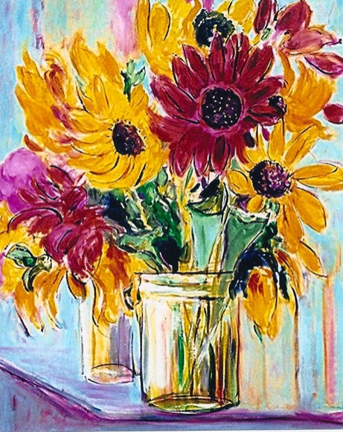Sunflowers and Chrysanthemums 24x30
