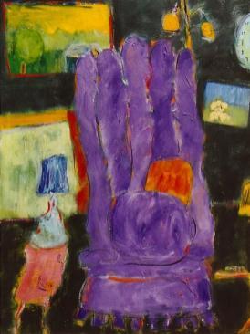 The Purple Chair 18x24