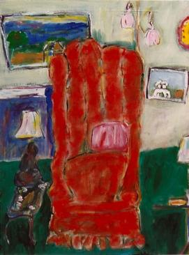 The Red Chair 18x24