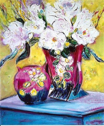 White Florals 20x24