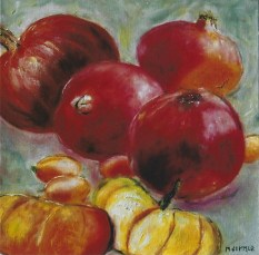 Squash and Pomegranates 12x12