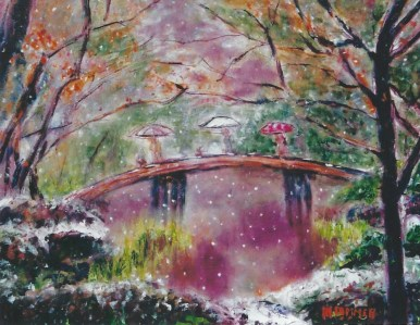 Crossing the Bridge 18x24