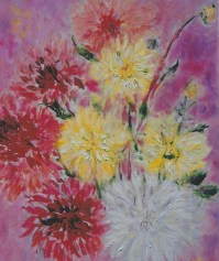Blooming Dalias