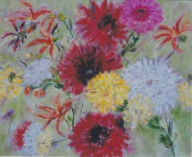 Dalias in Bloom 24x 30