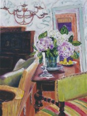 Interior with Hydrangeas 30x40