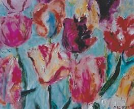 MultiColored Tulips 14x20