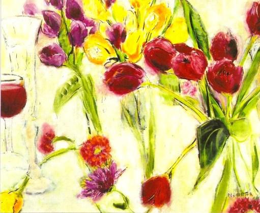 tulips with wine 2024