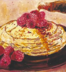 raspberry pancakes 2'x2'
