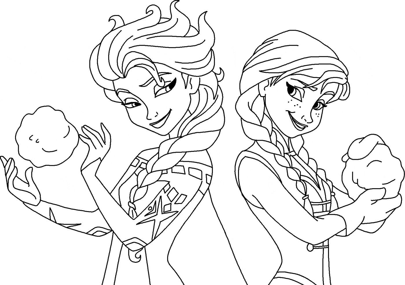 Print Princess Anna Frozen Christmas Coloring Pages Free Coloring