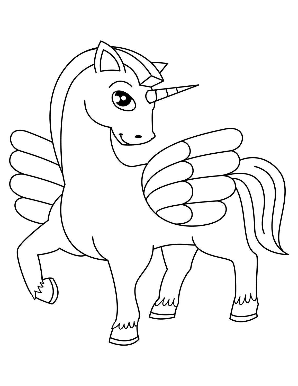 Kumpulan Mewarnai Gambar Unicorn Untuk Anak Tk Dan Paud