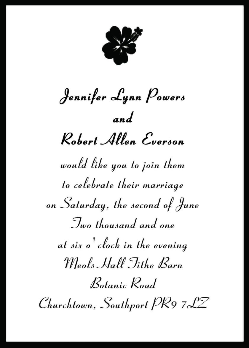 Excellent Wedding Invitation Messages Contemporary