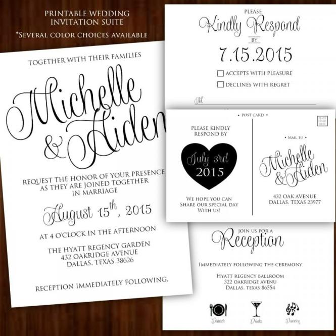 Black And White Wedding Invitations Marina Gallery Fine Art