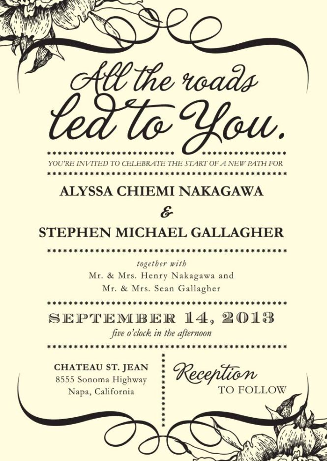 Wedding Invitation Wording Examples Marina Gallery Fine Art