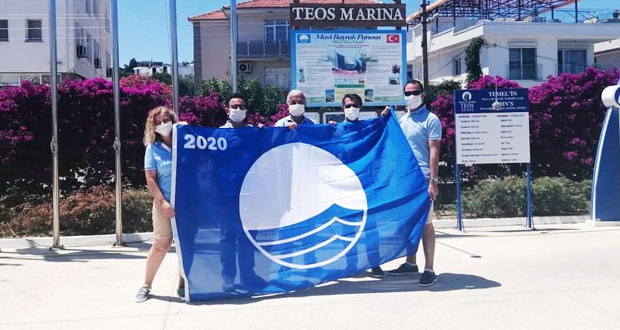 TEOS Marina Mavi Bayrağını Aldı