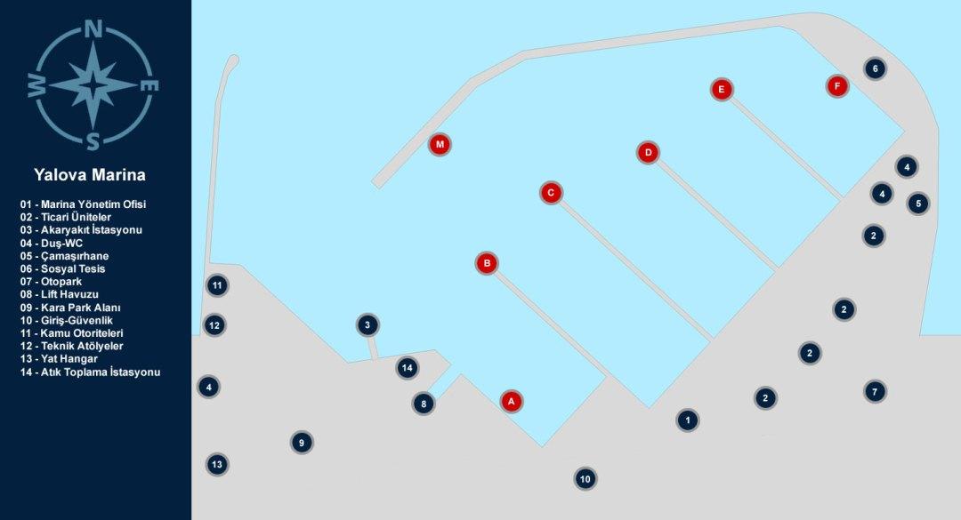 Setur Yalova Marina Yerleşim Planı