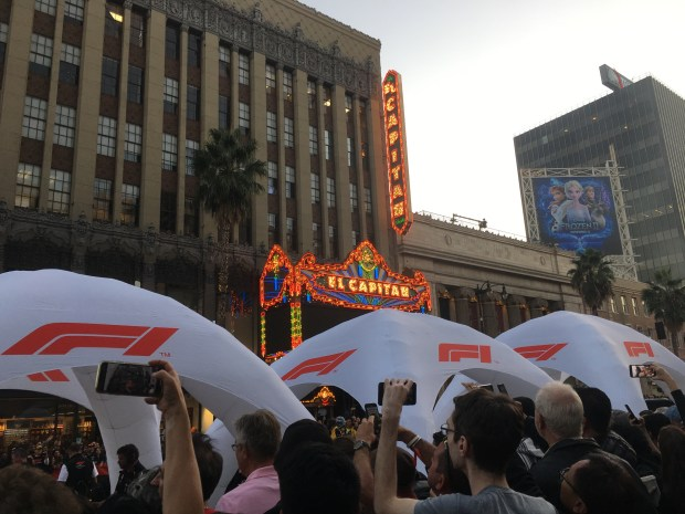 F1 and the El Capitan theater