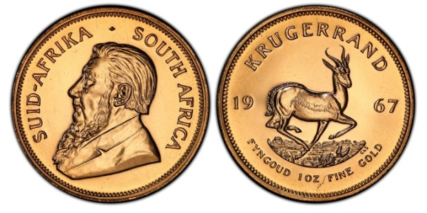 1967 South Africa gold Krugerrand coin