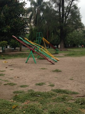 Playgrounds in Cordoba remind me of my childhood